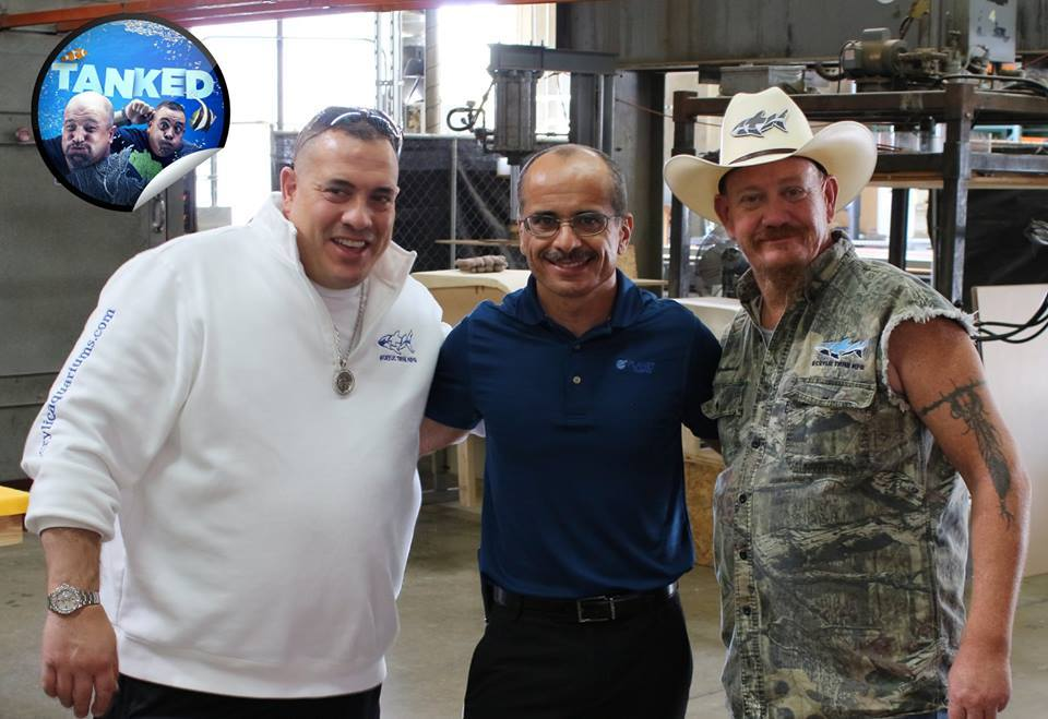 Wayde and Redneck from Tanked on Animal Planet