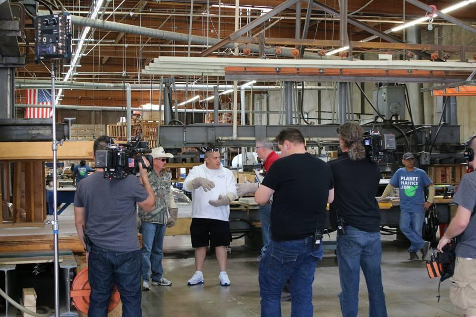 Filming  Tanked at Planet Plastics